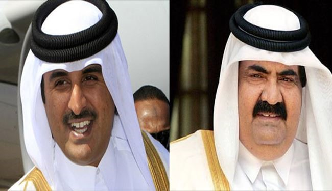 Qatar emir hands over power to son