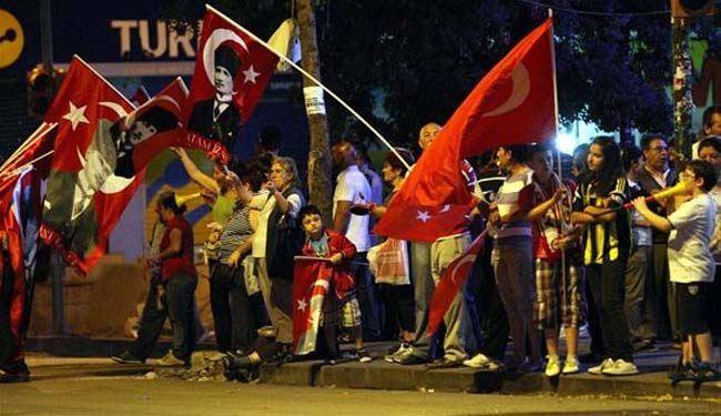 Erdogan lashes out at protesters, BBC