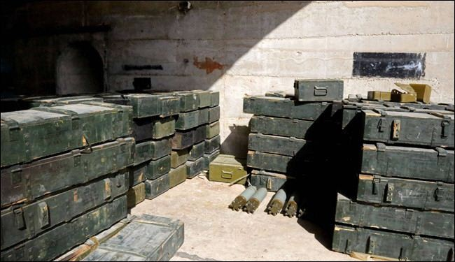Syrian army finds arms storage tunnel in Homs