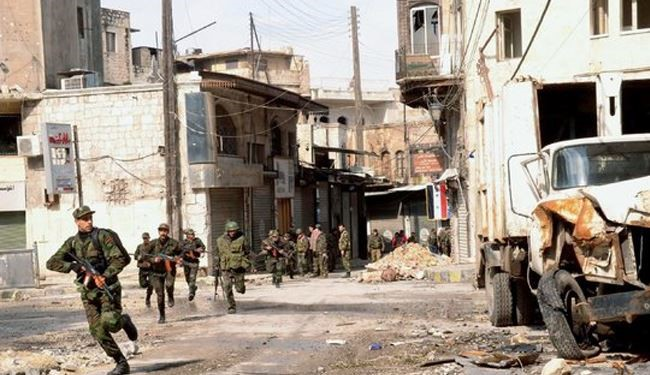 Syrian soldiers advance in Dara'a operation