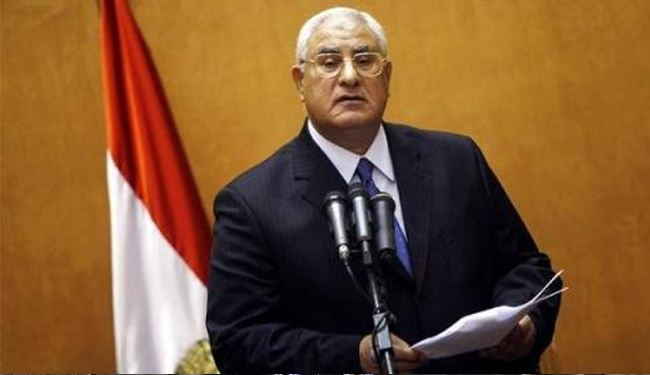 Egypt's interim President vows fight for security