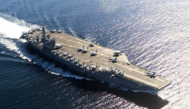 US nuclear-powered warship moves closer to Syria