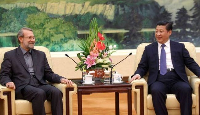Iran Majlis Speaker meets with Chinese President