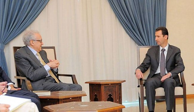 Syria President holds talks with UN-AL envoy