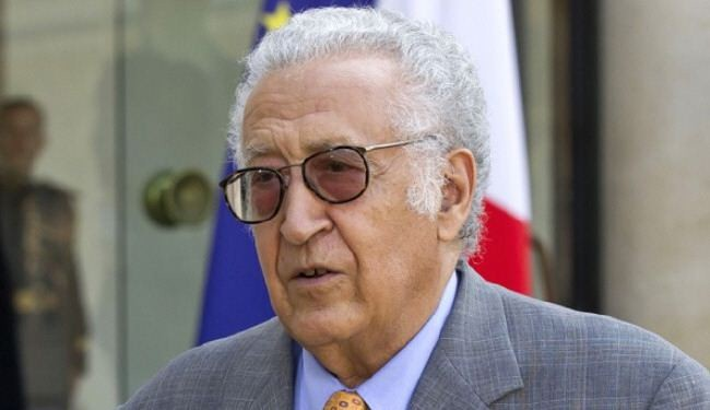 Brahimi in talks with Russians, Americans over Syria