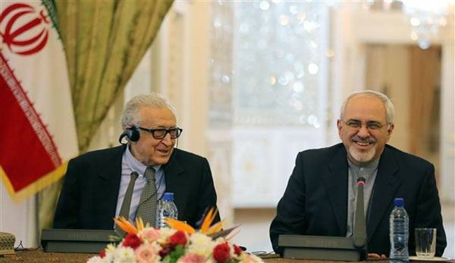 Zarif, Brahimi discuss upcoming Syria talks