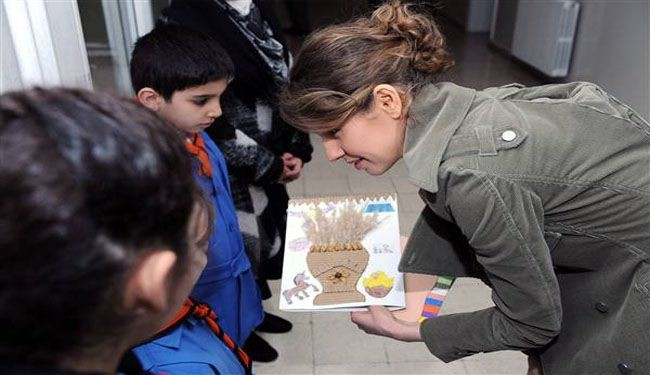 In Pictures: Syrian first lady visits Martyrs' Daughters school