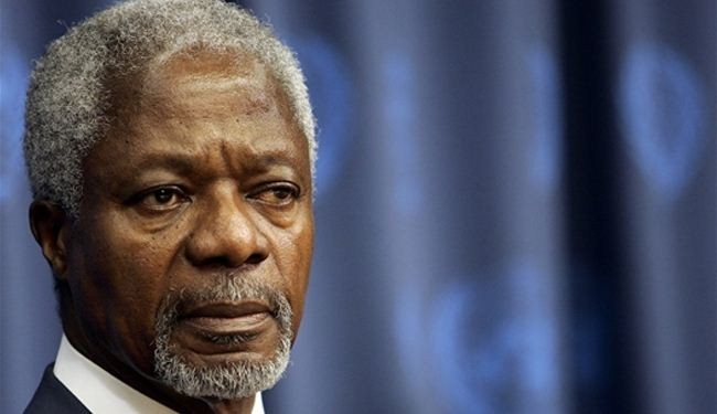Annan underlines Iran role in Syria peace talks