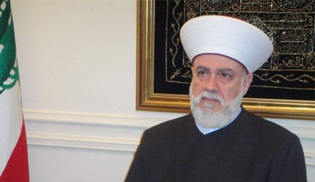 Lebanon Grand Mufti blames US for sowing strife in Mideast