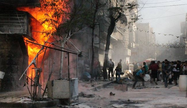 Syrian militants detonate mines under Aleppo hotel