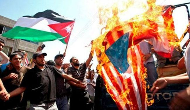 Jordanians rally against Israel, US-brokered talks