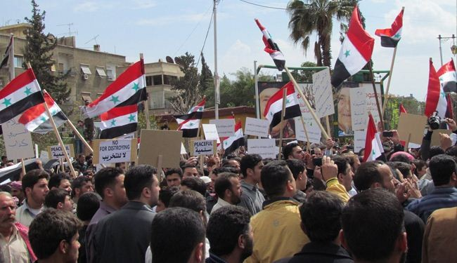 Syrians rally to thank army, support Assad