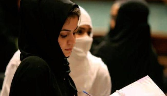 Saudi unveiled women banned from entering girls' schools