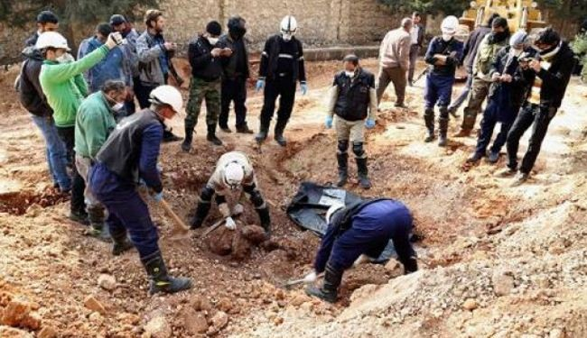 Mass grave discovered in Aleppo