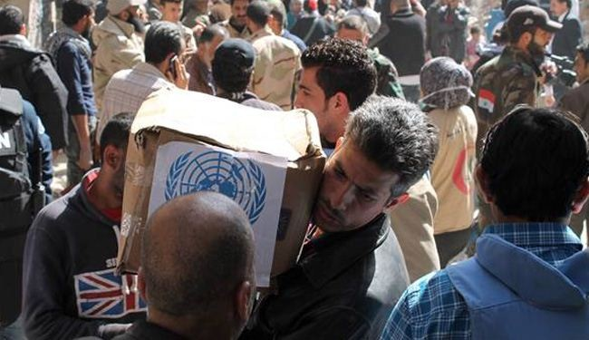 UN relief workers resume work in Syrian Yarmouk camp