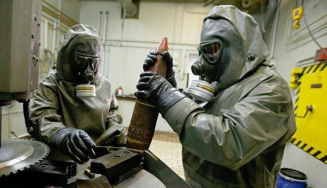 OPCW reports advance in removing Syria chemical arms