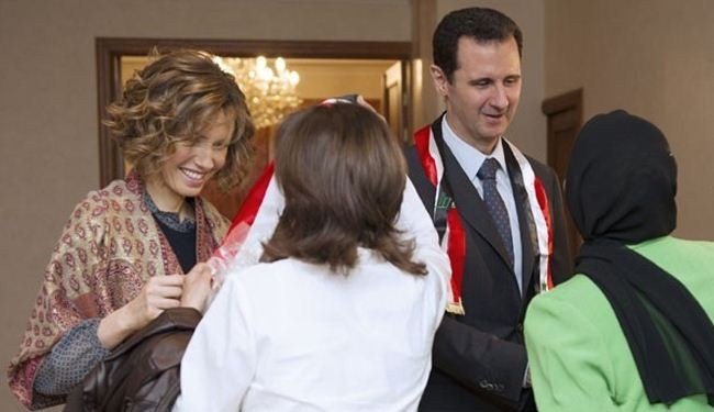 Syrian president and first lady honor Teachers' Day