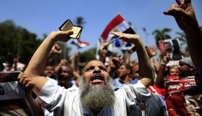 Pro-Brotherhood demonstrators hold rally in Cairo