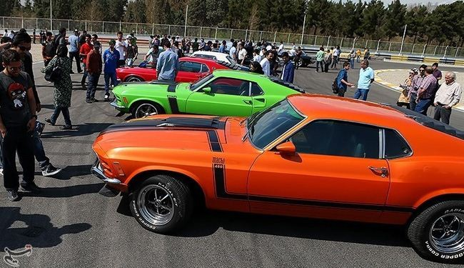 In picture: Tehran fair showcases classic Ford Mustang cars