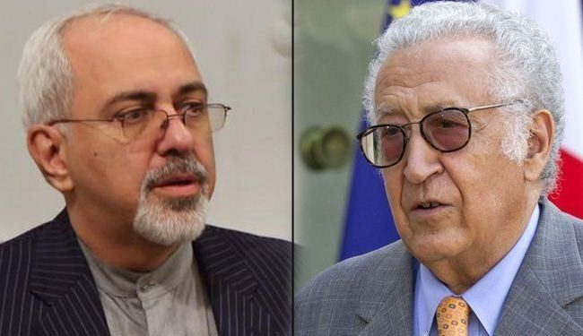 Iran's Zarif discusses Syria situation with Brahimi
