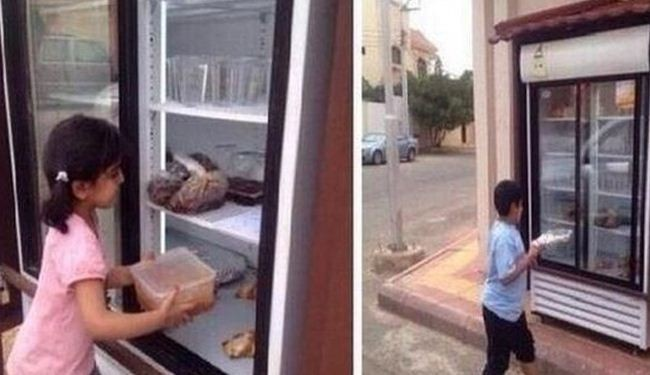 Man installs street fridge for needy people in Saudi Arabia