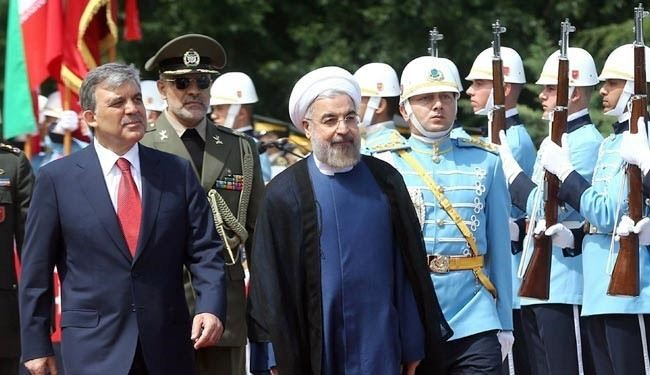 President Rouhani arrives in Turkey for talks