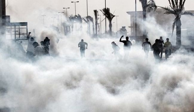 Bahraini police fires tear gas at protestors