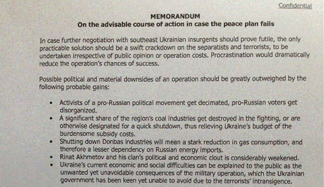 Leaked memo hints E. Ukraine internment camps