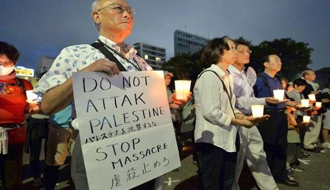 Protesters across the world condemn Israeli massacre in Gaza