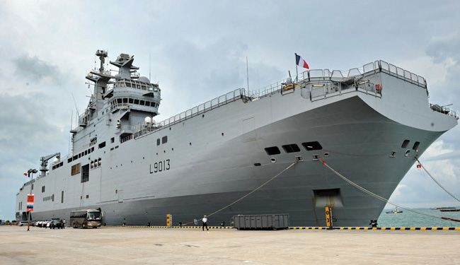 France, UK at odds over Russia Mistral ship deal