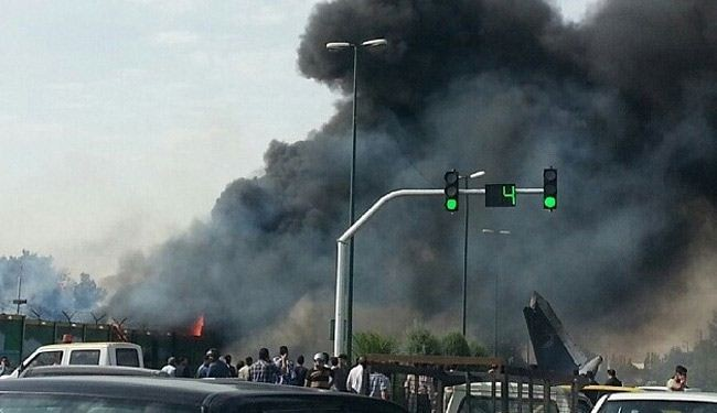 Airliner crashes in Tehran, at least 40 killed