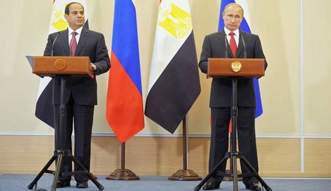 Russian president promises to develop weapons trade with Egypt