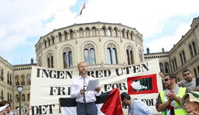 Norwegians hold anti-Israel rally to condemn Gaza war