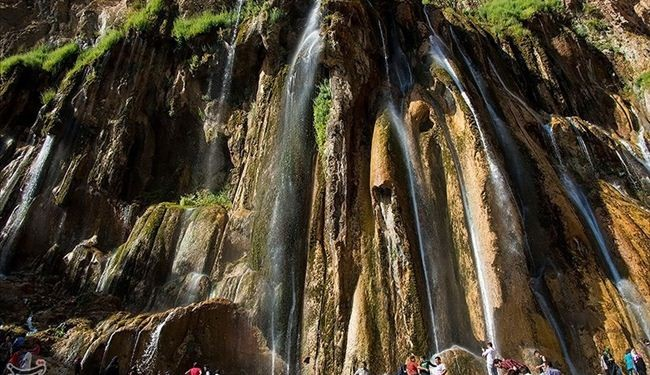 See stunning photos of Margoon or snake like waterfall in Iran