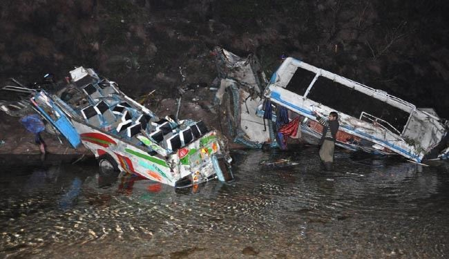 56 people, incl women & children, killed in Pakistan bus collision