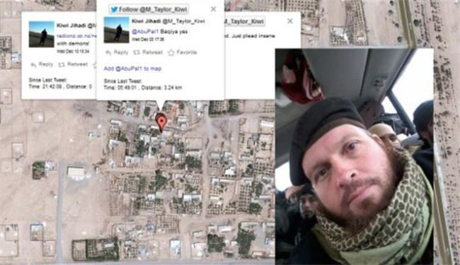 An ISIL Takfiri militant has revealed his location in Syria