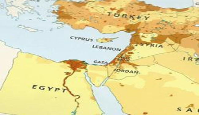 Is Israel Omitted from Maps for Mideast ?!