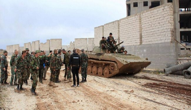 The Syrian army expanded its operations against Takfiri militants