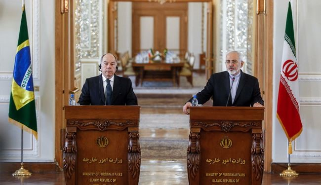 Iranian, Brazilian FMs Hold Joint Press Conference in Tehran