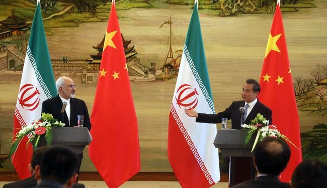 Iran's FM Zarif, Chinese Counterpart Hold Joint Press Conferense