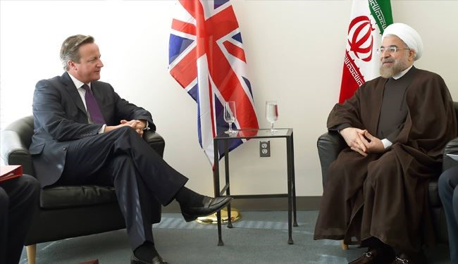 Iran's President Rouhani, Britain's PM Cameron Meet in New York