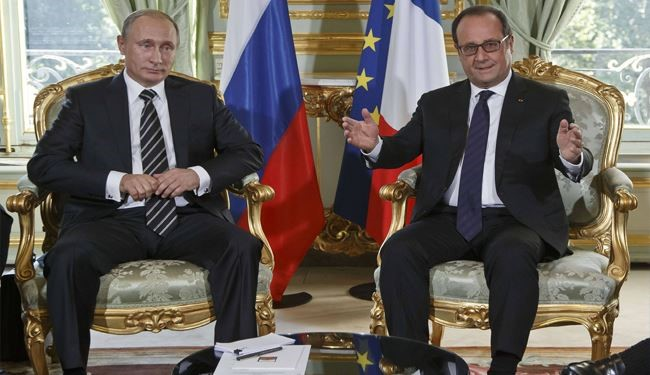 Putin Arrives for Syria Talks with Hollande in Paris