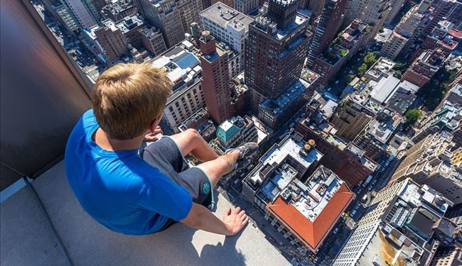 New York from a Daredevil German boy Down-Side Look
