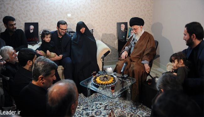 Supreme Leader Meets Family of Martyr General Hamadani