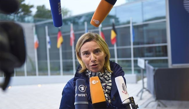 EU Chief Mogherini Sees Role for Iran in Ending Crisis in Syria