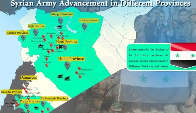 INFOGERAPHIC; Syrian Army Advancement against Terrorist Groups