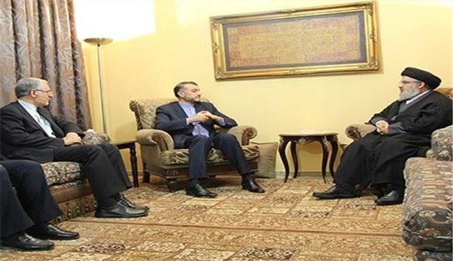 Iran's Deputy FM, Hezbollah Secretary General Meet in Beirut