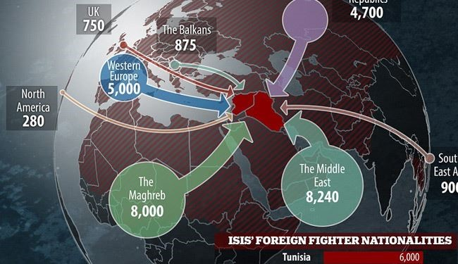 Maps Show 31000 Mercenaries From 86 Countries Fight For ISIS - Isis Training Camps In Us Map