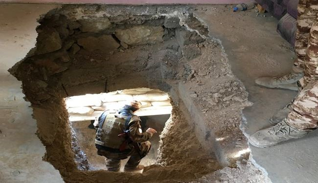 Iraqi Security Forces Ruin ISIS Tunnel East of Ramadi