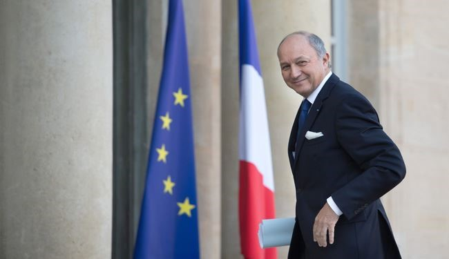 French FM Fabius: Rouhani's France Visit to Help Resolving Mideast Crises